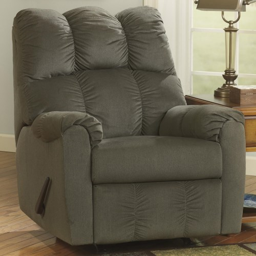 Signature Design by Ashley Raulo - Moss Rocker Recliner w/ Padded Arms
