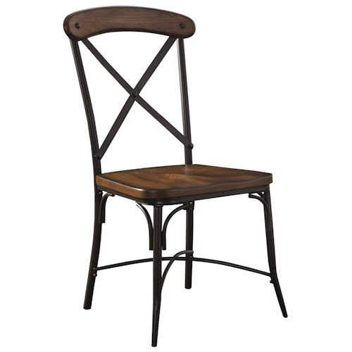 Signature Design by Ashley Rolena Bistro Style Metal/Wood Dining Room Side Chair