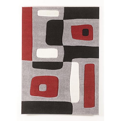 Signature Design by Ashley Contemporary Area Rugs Geo - Red Medium Rug