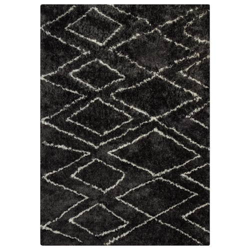 Signature Design by Ashley Contemporary Area Rugs Deryn Black/White Large Rug