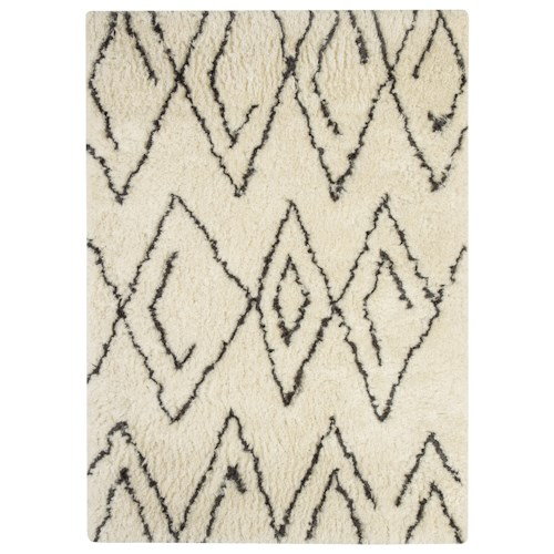 Signature Design by Ashley Contemporary Area Rugs Mevalyn White/Black Medium Rug