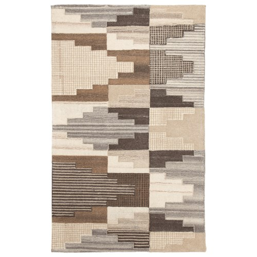 Signature Design by Ashley Contemporary Area Rugs Watnick Brown/Gray Large Rug