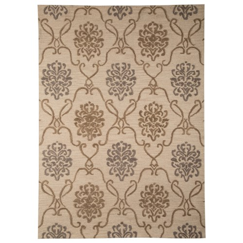Signature Design by Ashley Traditional Classics Area Rugs Haidar Brown/Gray Medium Rug