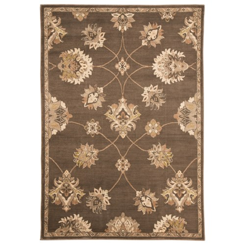 Signature Design by Ashley Traditional Classics Area Rugs Adelina Taupe Large Rug