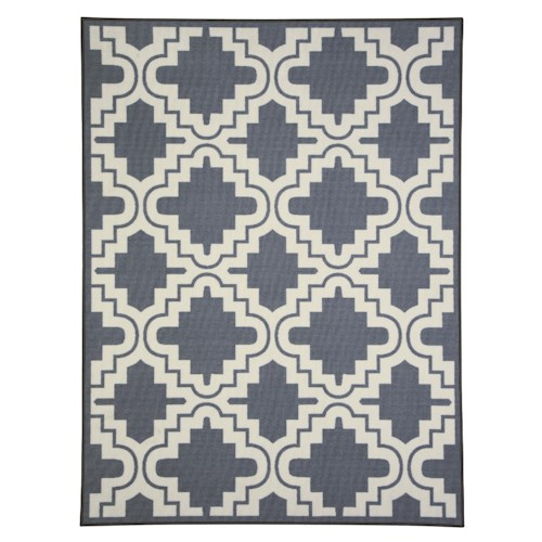 Signature Design by Ashley Transitional Area Rugs Jacory Gray/White Medium Rug