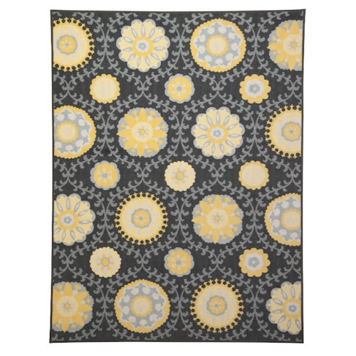 Signature Design by Ashley Transitional Area Rugs Jaget Gray/Green Medium Rug