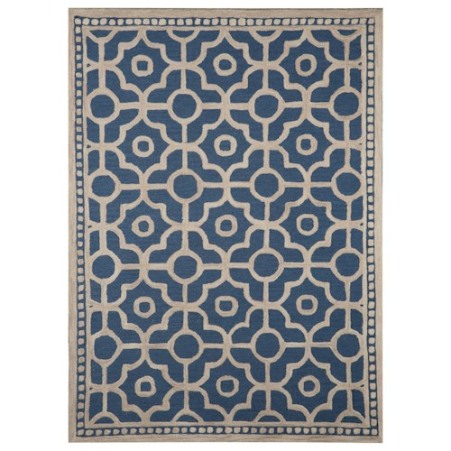 Signature Design by Ashley Transitional Area Rugs Bisbee Blue Medium Rug
