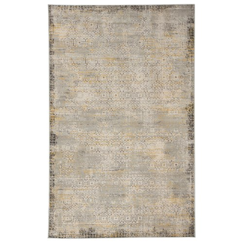 Signature Design by Ashley Transitional Area Rugs Dallon Silver Medium Rug