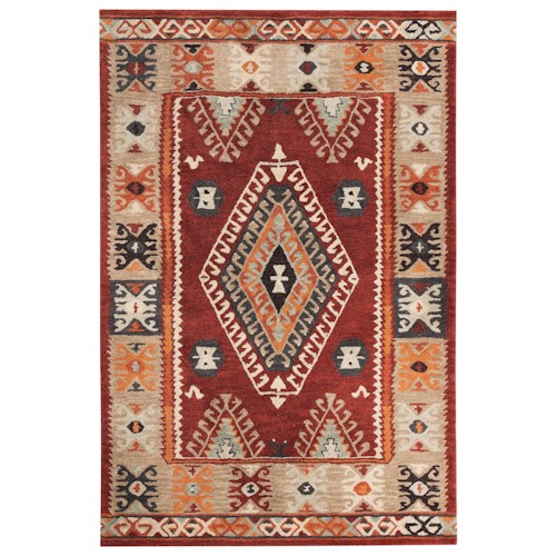 Signature Design by Ashley Transitional Area Rugs Oisin Brick Large Rug