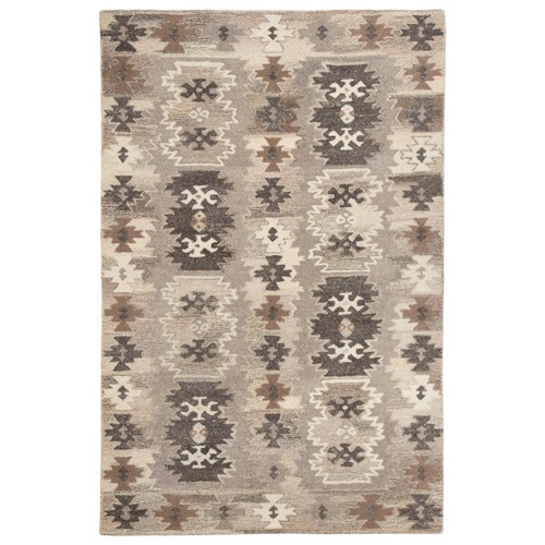 Signature Design by Ashley Transitional Area Rugs Porcinni Gray Medium Rug