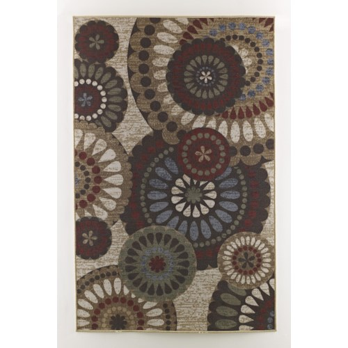 Signature Design by Ashley Transitional Area Rugs Cece - Multi Medium Rug