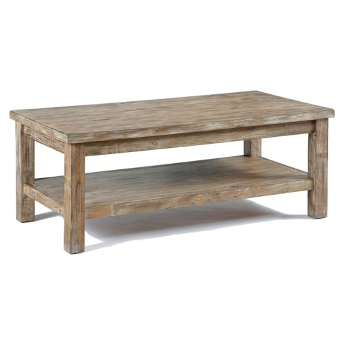 Signature Design by Ashley Vennilux Rustic Bisque Rectangular Cocktail Table
