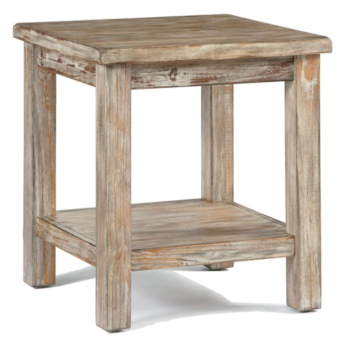 Signature Design by Ashley Vennilux Rustic Bisque Chairside End Table with Shelf