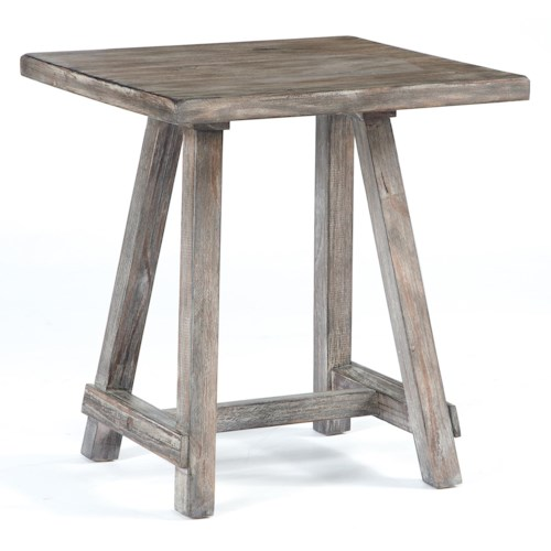 Signature Design by Ashley Vennilux Distressed Driftwood Finish Chairside End Table