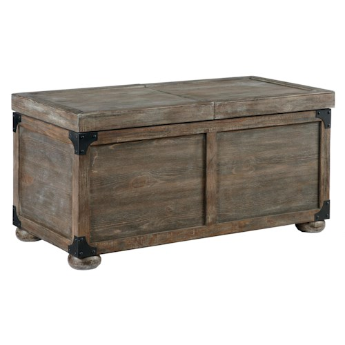 Signature Design by Ashley Vennilux Trunk Style Rustic Storage Cocktail Table