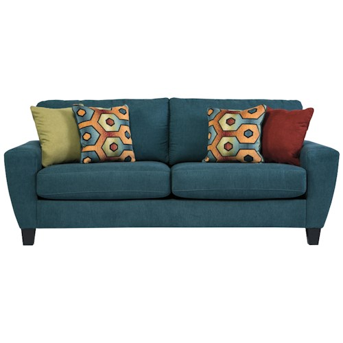 Signature Design by Ashley Sagen Contemporary Queen Sofa Sleeper with Shaped Track Arms