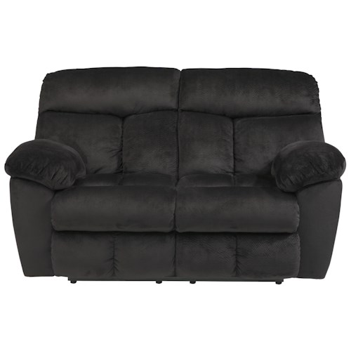 Signature Design by Ashley Saul Reclining Power Loveseat with Pillow Arms
