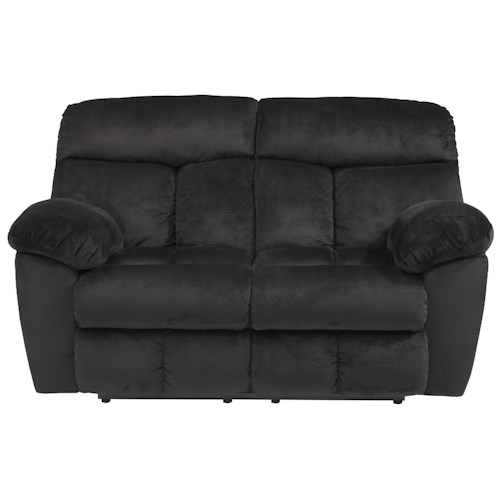 Signature Design by Ashley Saul Reclining Loveseat with Pillow Arms