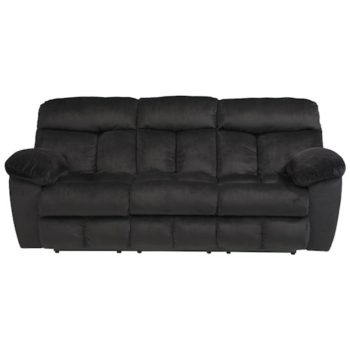 Signature Design by Ashley Saul Reclining Power Sofa with Pillow Arms