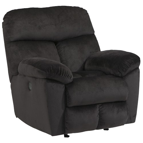 Signature Design by Ashley Saul Power Rocker Recliner with Pillow Arms