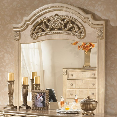 Signature Design by Ashley Saveaha Bedroom Mirror with Rich Ornate Frame