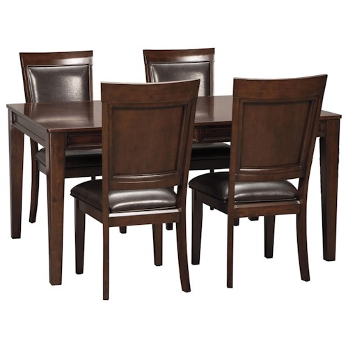 signature design by ashley shadyn rectangular dining room extension table set: extension table f