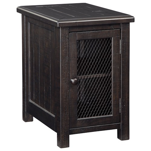Signature Design by Ashley Sharlowe Distressed Solid Pine Chair Side End Table