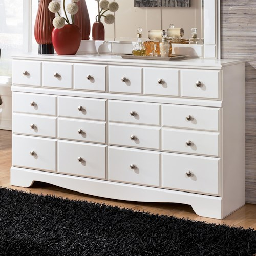 Signature Design by Ashley Weeki Contemporary 6 Drawer Dresser