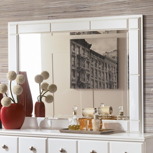 Signature Design by Ashley Weeki Contemporary Landscape Dresser Mirror