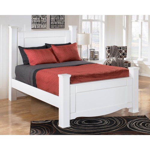 Signature Design by Ashley Weeki Contemporary Queen Poster Bed