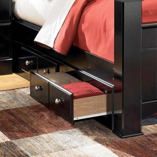 Signature Design by Ashley Shay Queen/King Bed Storage Unit