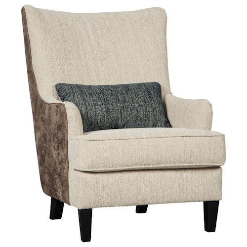 Benchcraft Silsbee Contemporary Fabric/Faux Leather Accent Chair