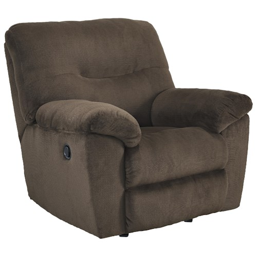Signature Design by Ashley Slidell Contemporary Rocker Recliner