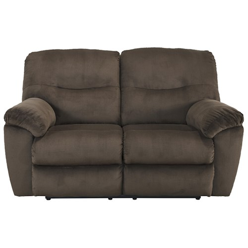 Signature Design by Ashley Slidell Contemporary Reclining Loveseat