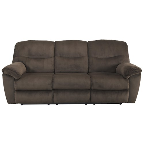 Signature Design by Ashley Slidell Contemporary Reclining Sofa
