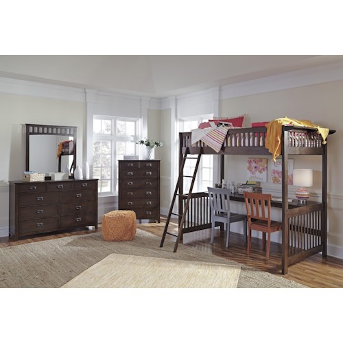 Signature Design by Ashley Strenton Lofted Twin Bedroom Group