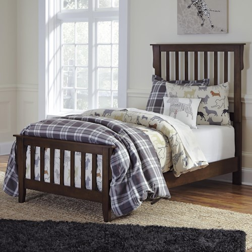 Signature Design by Ashley Strenton Twin Slat Bed