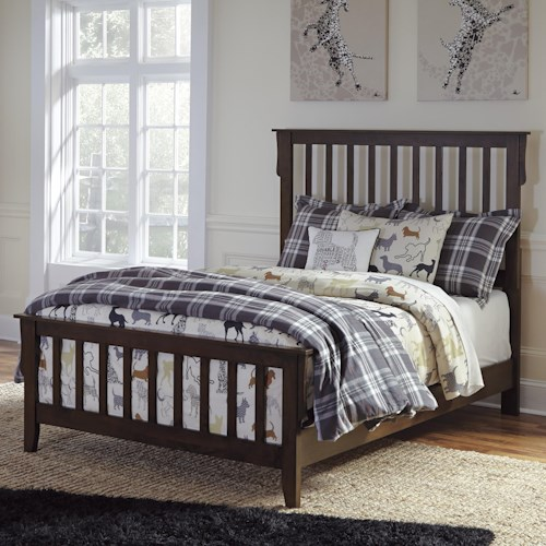 Signature Design by Ashley Strenton Full Slat Bed
