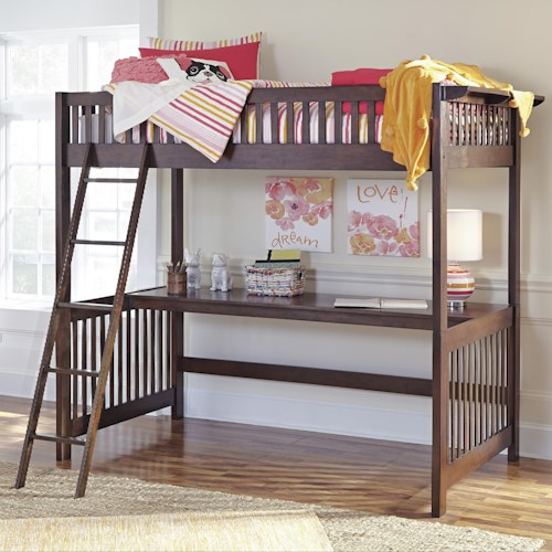 Signature Design by Ashley Strenton Loft Slat Bed