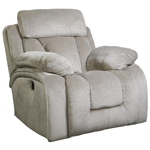 Signature Design by Ashley Stricklin Contemporary Power Rocker Recliner