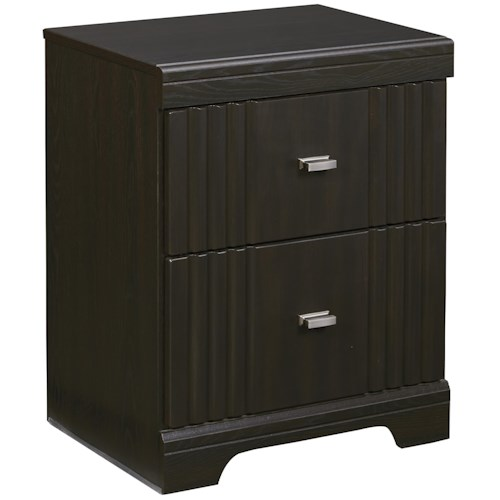 Signature Design by Ashley Tadlyn Two Drawer Night Stand with 2 USB Chargers