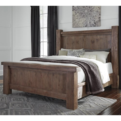 Signature Design by Ashley Tamilo Queen Wood Poster Bed