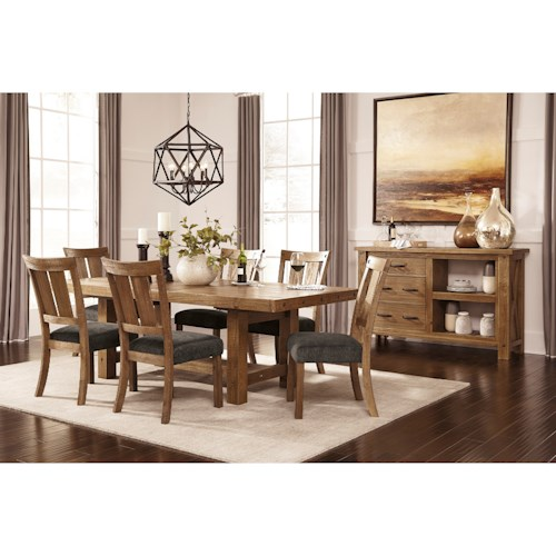 Signature Design by Ashley Tamilo Dining Room Server with Two Shelves