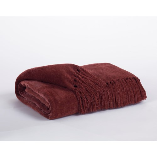 Signature Design by Ashley Throws Revere - Burgundy Throw