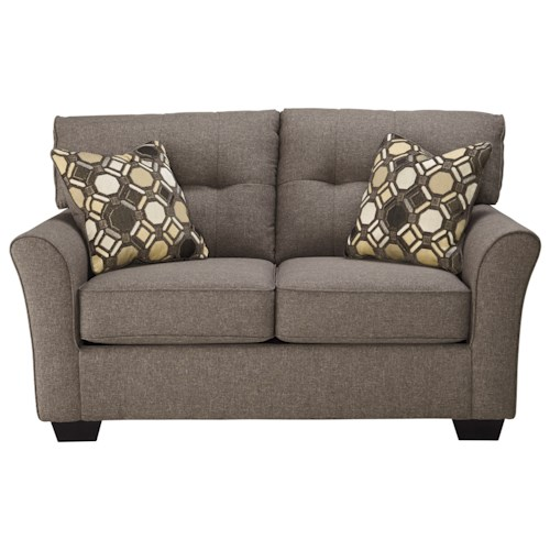 Signature Design by Ashley Tibbee Contemporary Loveseat with Tufted Back