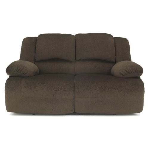 Signature Design by Ashley Toletta - Chocolate Casual Contemporary Reclining Power Loveseat