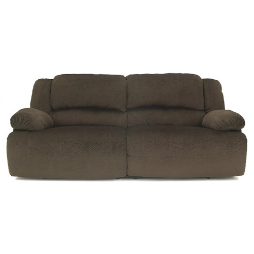 Signature Design by Ashley Toletta - Chocolate Casual Contemporary 2 Seat Reclining Sofa