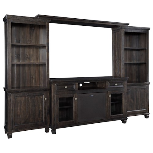 Signature Design by Ashley Townser Entertainment Center w/ Large Bluetooth Speaker