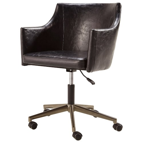 Signature Design by Ashley Tremile Home Office Desk Chair in Dark Brown Faux Leather