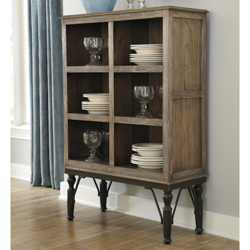 Signature Design by Ashley Tripton Medium Rustic Brown Tall Dining Room Server
